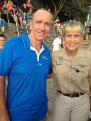 Geoff with Terri Irwin
