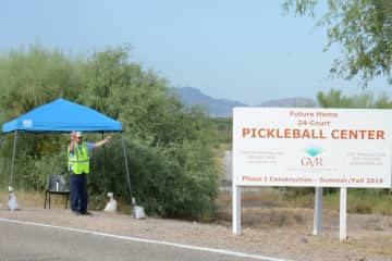 January 2020 anticipated completion of 24 court pickleball complex