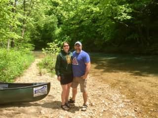 Canoe trip for Terri and TJ