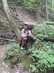 My beloved 'Jemma' dog on her first hike after I brought her home from the rescue. Pure joy!!! :)