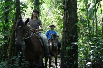 Horse riding in the jungle