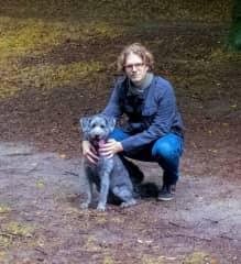 Me and Vixen, my best friend's dog
