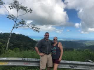 My boyfriend Sean and I in Puerto Rico