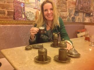 This is me - having Turkish Coffee in Istanbul!