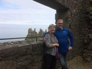 Katrina and Claude at Dunluce Castle
