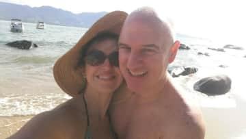 Evodio and I in Brazil