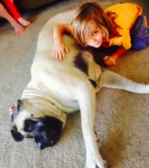 Lola the sweetest girl ever with our son Lex when younger