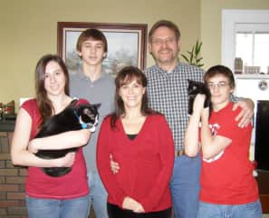 Christmas photos of our family always include the cats