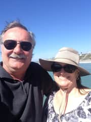 Art and Karen in California on Vacation whale watching