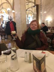 Me in a beautiful coffee shop in Vienna in 2016.  Wish I could have stayed longer than the 3 days!