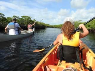 Tara kayaking in the Florida Keys