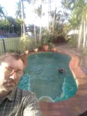 Daily exercises with Adonis at the pool in Darwin / Australia