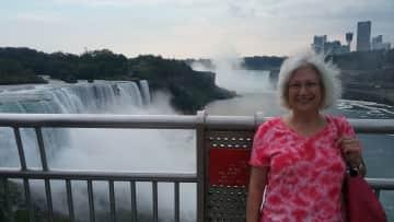 Kate at Niagara Falls