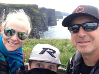 Us at Cliffs of Moher, Ireland