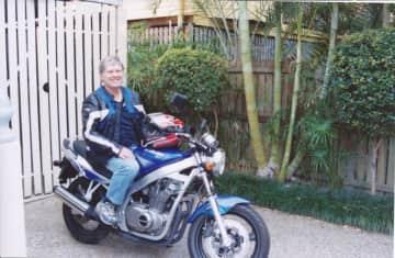 David on his precious motorbike