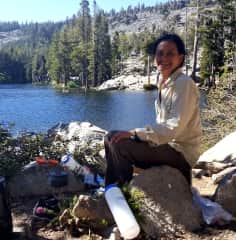 Backpacking in the High Sierras in California