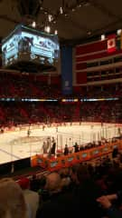 NHL Hockey game in Stockholm Sweden