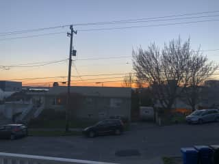 Sunset from patio