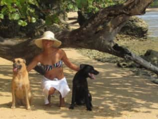 Me with my Lola and Baloo at the beach