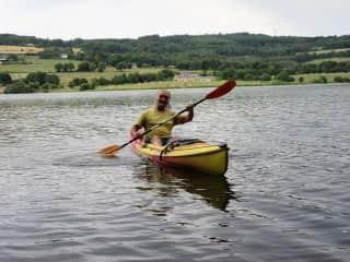 Richard on a kayak