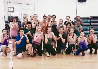 Jenny teaching her gym class