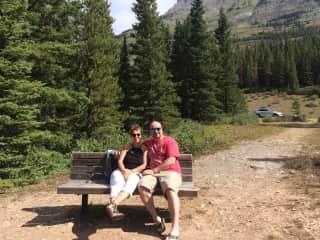 Steve and Lorraine enjoying Canadian Rockies