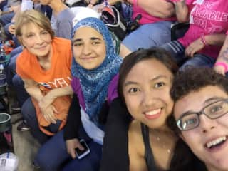 Taking some high school exchange students (from India, Indonesia and Germany) to their first (and maybe only) baseball game!
