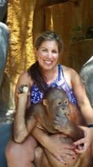 Me playing with Orangutan in Bali - Oct 2016
