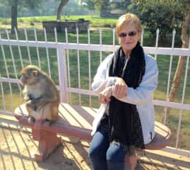 Diana in India with a 'friend'!