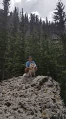 Mitch and Sixx at Grassi Lakes (45 mins from Calgary)