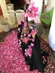 Me at the Ta'if Rose Festival in Saudi Arabia.