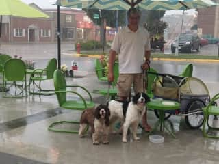These were 2 of the 3 wonderful babies we loved in Beaver Dam, WI.  We had to seek shelter from the rain but they were troopers!
