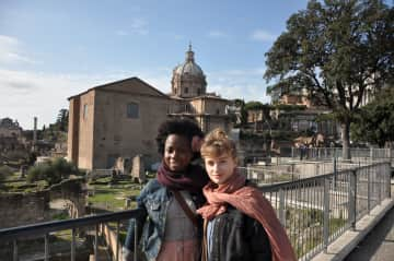 with my sweet friend living La Grande Belezza in Rome