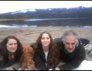 Lago Lolog con Hugo, Emi, Huilén y Kela.