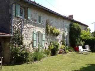 Our house and garden in Charente