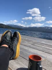 Relaxing at Priest Lake, ID