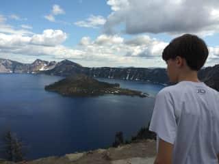 Sam at Crater Lake