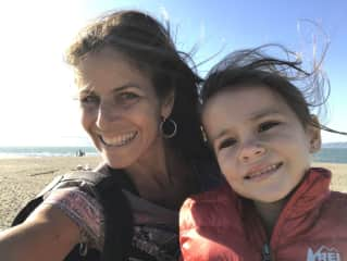 Me and my daughter, Maia, who is now almost 8....Our regular summer trip to Bay Area two years ago