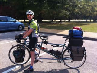 Bicycle camping...the tandem is loaded down for a 5 day trip!