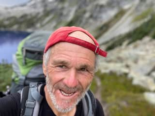 Above Tundra Lake on a solo Stein Traverse journey, August 2020.