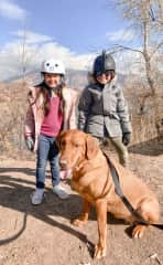 adventuring with our new friend, Sage, on one of our pet sits in Utah