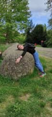 Me and social distancing so I have to hug a rock :D