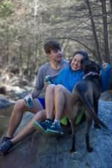 Me, Sam and Luna on a hike.