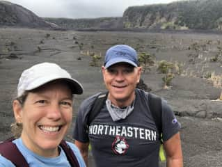 Doing what we love - HIKING - in the Kilauea Iki Crater!