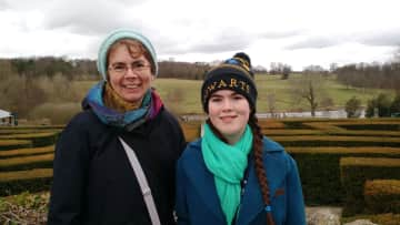 After our hawk walk we conquered the hedge maze at Leeds Castle.