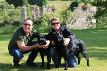 Us w/ Sam & Tilly, Scottish Highlands.