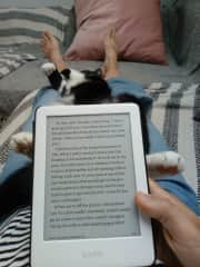Me and Lucien, he likes reading with me