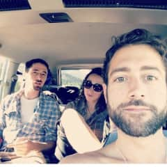 Road-tripping with my best friends.