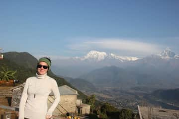 A photo from my time in Nepal, where I hiked Annapurna Circuit and attended a yoga retreat