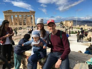 Athens in February 2018, our family loves to travel